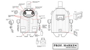 Matt Gaser's Prof. Harkin Resin Art Toy, concept design