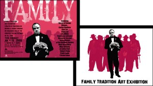 The Family Tradition Art Exhibition flyers