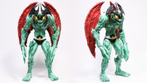 Mike Sutfin's Devilman figure from Unbox Industries, front & quarter turn
