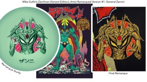 Mike Sutfin's Devilman print from Mondo, AP: General Zannin