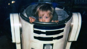 Nathan Hamill in R2-D2 prop, circa Return of the Jedi