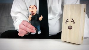 Oasim Karmieh's Louis C.K. Art Toy Held