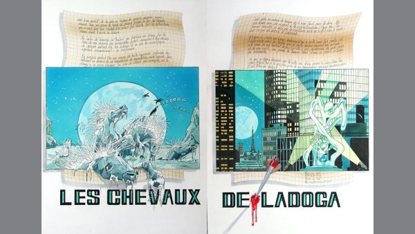 Pierre Matter's Les Chevaux de Ladoga, comic book cover