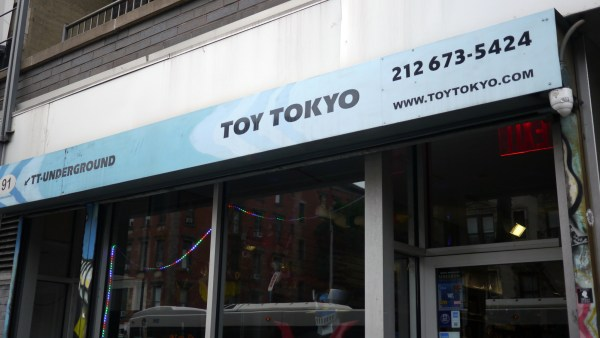 Toy Tokyo's exterior on the day of Hyperstoic Returns