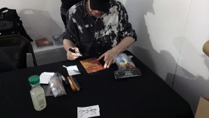 Pushead signing at Hyperstoic Returns