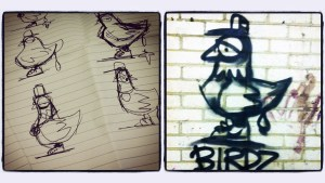 RONZO's Birdz sketchs & early example