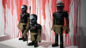Miscreation Toys' Cannibal Iron Monster series at Clutter Gallery's Vinylploitation exhibition