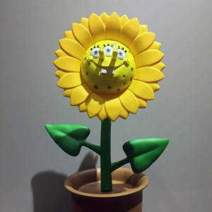 Ron English's Growing Grins - 3 Eyed Sponge Sun Flower Sculpture