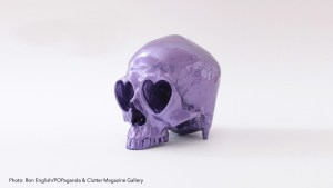 Ron English's Heart Skull - Resin version