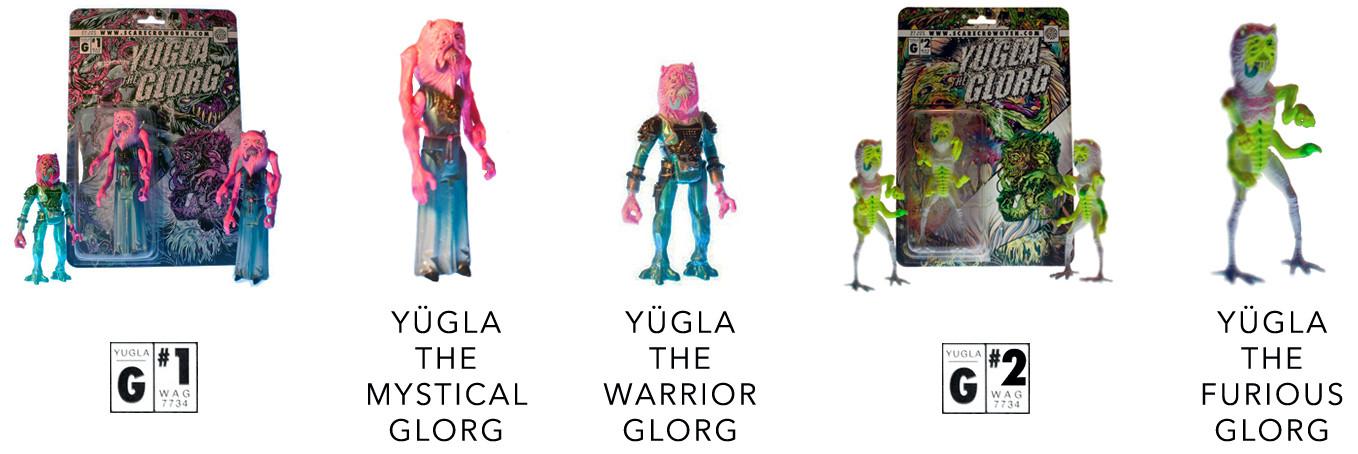 Scarecrowoven's Yugla the Glorg - Mystical, Warrior, and Furious editions (2014)