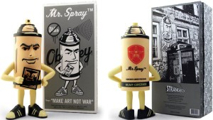 Shepard Fairy's Mr. Spray vinyl figure from StrangeCo, Black Edition