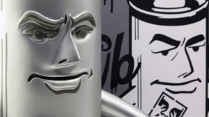 Shepard Fairy's Mr. Spray vinyl figure from StrangeCo, Silver Edition