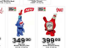 Sket One - Heinz Ketchup Dunny custom for SubCultures exhibition information, 2006