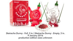 "Sket One Dunny - Sketracha 3"" Dunny, Full & Empty versions, 2016"