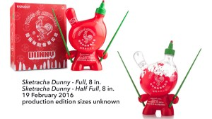 "Sket One Dunny - Sketracha 8"" Dunny, Full & Half Full versions, 2016"