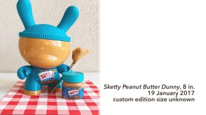 "Sket One Dunny - Sketty Peanut Butter 8"" Dunny, custom, 2017"