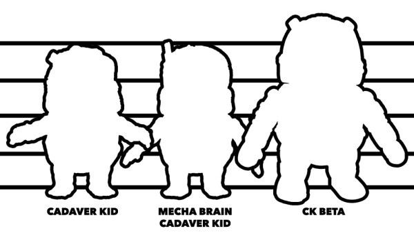 Splurrt's Cadaver Kid - Size Comparison Between Versions