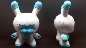 "Squink's Kono the Yeti 8"" Dunny from Kidrobot, Blue ""Ice"" Edition, 2018"