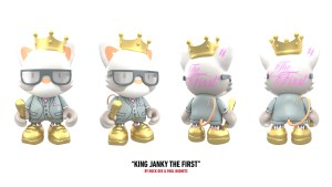 Huck Gee & Paul Budnitz's King Janky the First for Superplastic