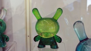 TaskOne's Green Galaxy Dunny (Resin version the Kidrobot figure)