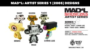 MAD*L Artist Series 1 designs