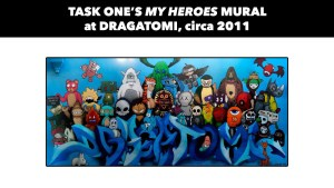 Task One's My Heroes mural for Dragatomi, circa 2011