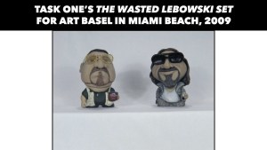 Task One's custom Munny The Wasted Lebowski Set for Art Basel in Miami Beach, 2009