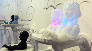 Yokai exhibition - Octoplum's Ao Andon (White Light, Medium) & Ao Andon (White Light, Big)