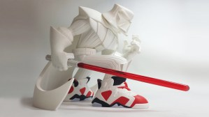 Tracy Tubera's Jordan Sith Infrareds, The Light Side Edition