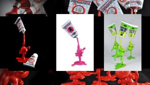 VISEone's Outland Red Tube Dunny, Juicy Pink Tube Dunny, and Zombie Juice Tube Dunny, 2011