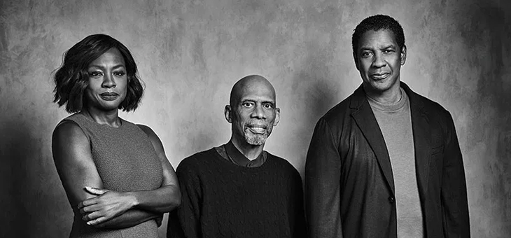 Shot at Quixote: Kareem Abdul-Jabbar Interviews Denzel Washington and Viola Davis for The Hollywood Reporter