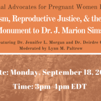 Webinar | Racism, Reproductive Justice, & the NYC Monument to Dr. J. Marion Sims
