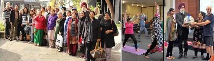 Yoga Day in Hamilton, New Zealand