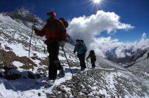 Hiking to CAMP 3 - 18,000 feet