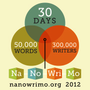 A badge from the NaNoWriMo site