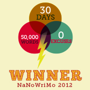 Rich Weatherly Winner NanoWriMo 2012