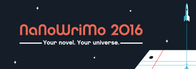 This year's official NaNoWriMo banner