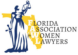 the logo for the Florida Association for Women Lawyers