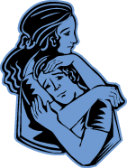 clipart of mother holding son