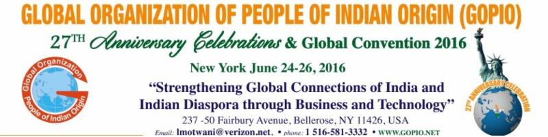 GOPIO BIENNIAL CONVENTION 2016