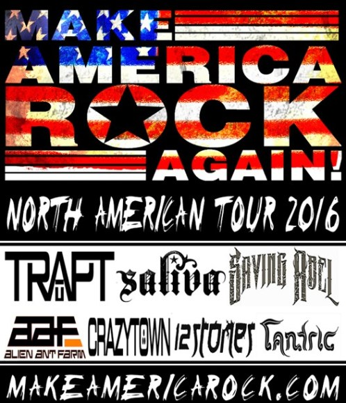The Inaugural MAKE AMERICA ROCK AGAIN Tour Adds Select Dates