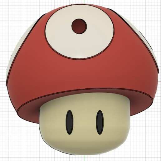 Download Stl File Mario Bross Mushroom 3d Print Design Cults