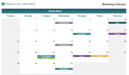 Marketing Calendar Template 2019 Demand Metric
