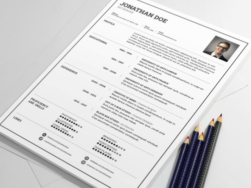 Light Resume Template   Fluxes Freebies Light Resume Template