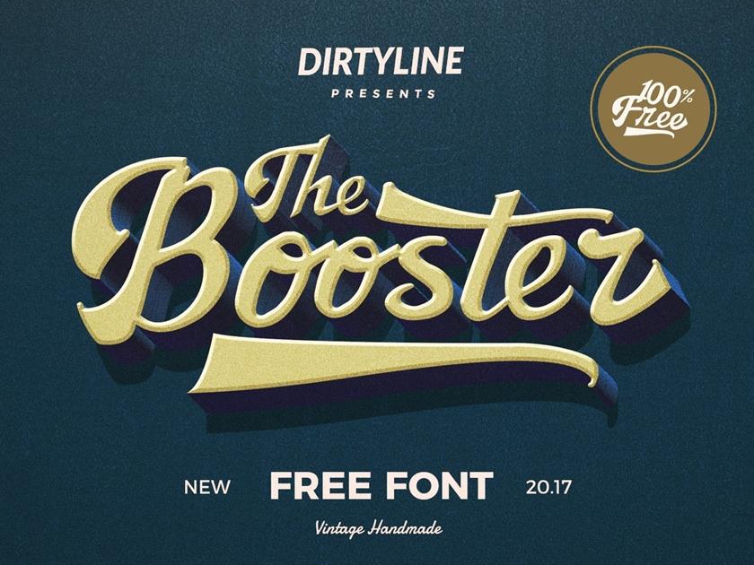 Download Booster Vintage Script Font - Fluxes Freebies