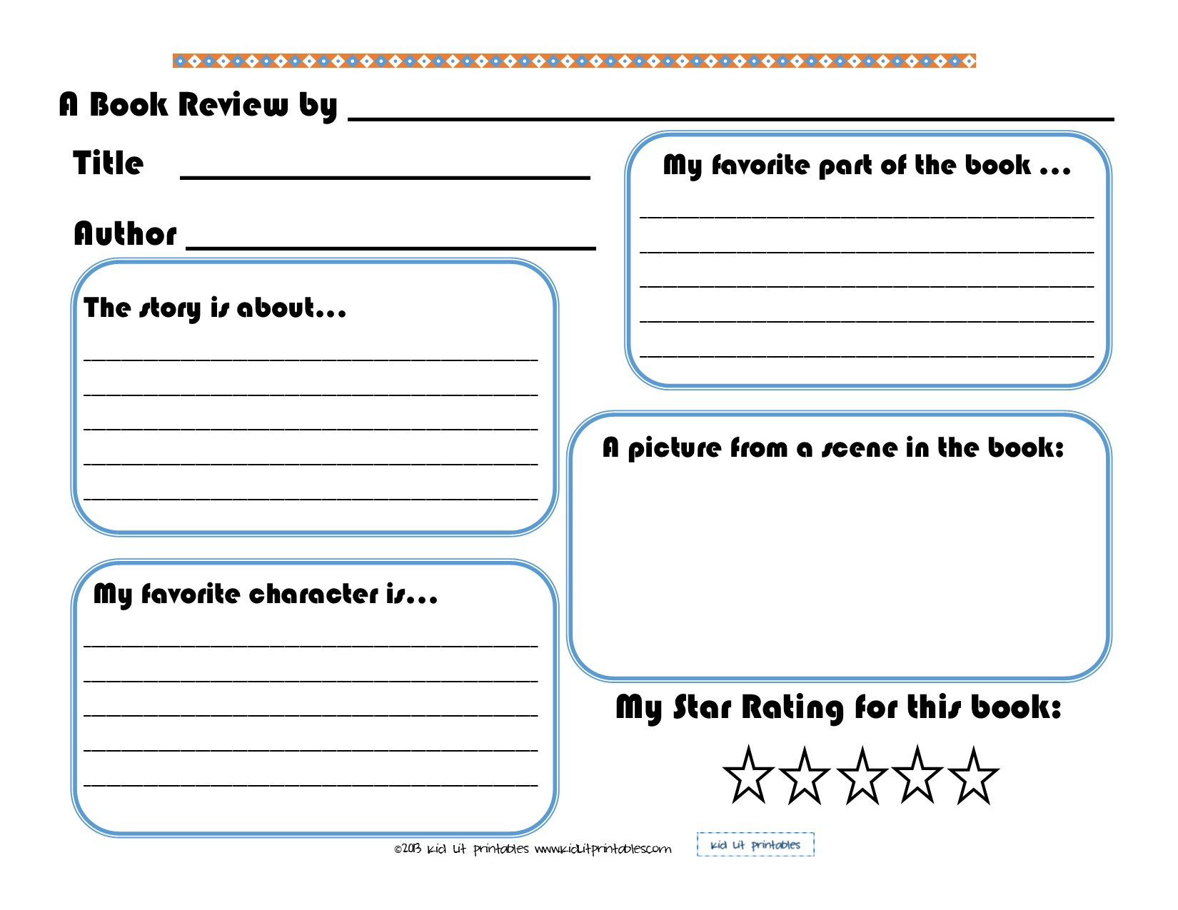professional book review template