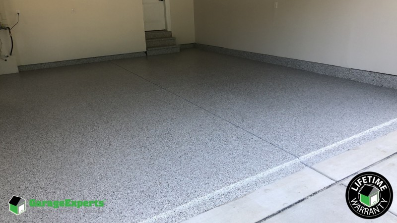 epoxy flooring installed at bethany beach de garage experts of mid atlantic