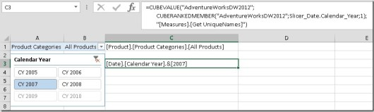 Excel_MDX_CUBEVALUE_UniqueNames_Slicer