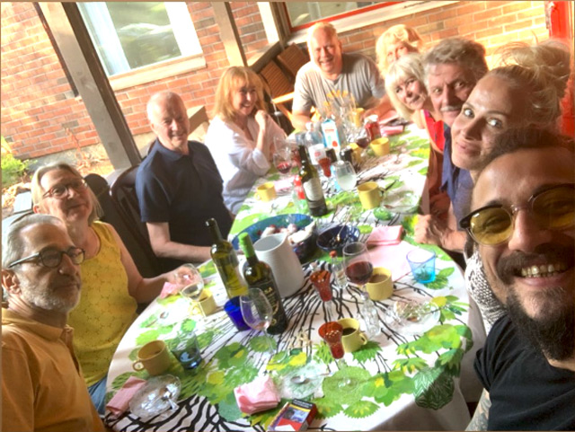 Daniel Pablo Osvaldo a pranzo con la nuova fidanzata Veera Kinnunen e la sua famiglia