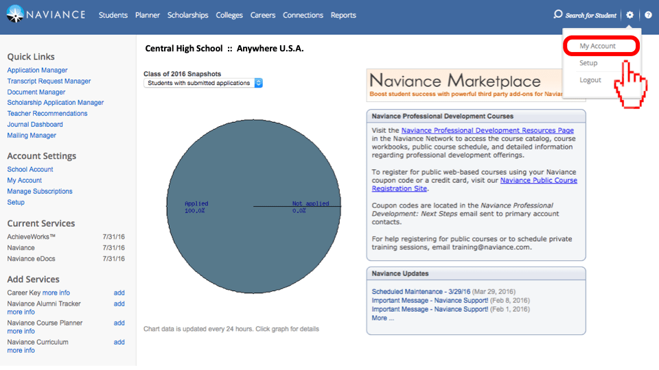 Naviance Export Instructions User Guide And Support Documentation Scoir